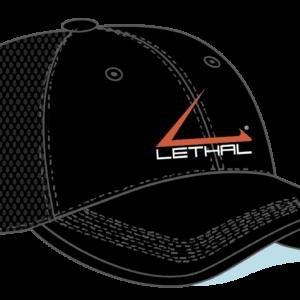 Logo Mesh Back Hat – Black