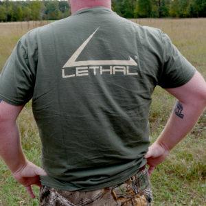Short Sleeve Lethal Logo T-Shirt (Military Green)